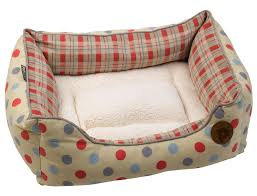 Puppy Beds Pet Bed Puppy Dog Square Polka Dot U0026amp Checked Basket Removable