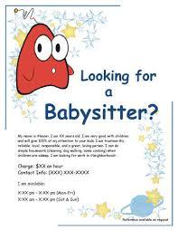 sample babysitting ad templates memberpro co