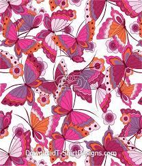 butterfly flower pattern repeat