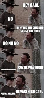 Carl Rick Meme - rick and carl long meme imgflip