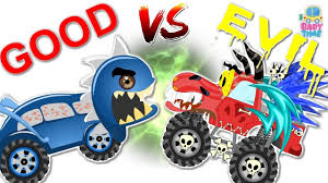 monster truck video for toddlers evil monster truck war evil vs evil devil monster truck videos