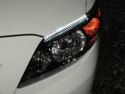 how to install led lights in car headlights easy guide to install flexible led strips over headlights