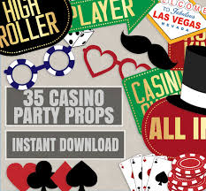 photo booth party props 35 casino party props casino printable decor las vegas theme
