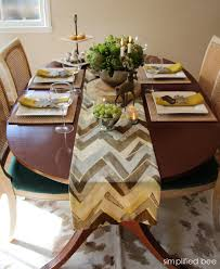 chevron table runner archives simplified bee