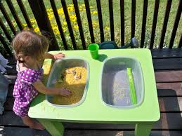 Toddler Sensory Table by Raising A Low Media Toddler The Sensory Table To The Rescue