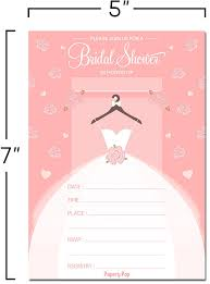 amazon com bridal shower invitations with envelopes 15 count