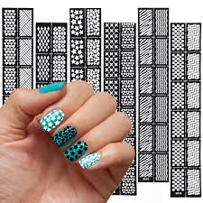 reusable nail art stencils reusable free download images nail