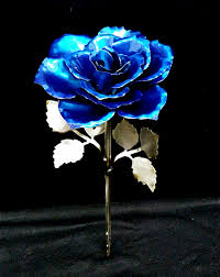 metal roses heavy metal blue