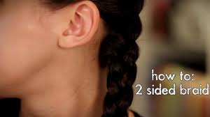 how to easy two sided braid simple and easy braided hairstyle