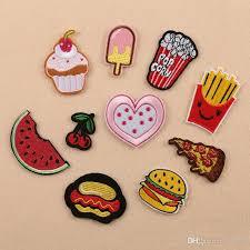 2018 baby dress decor iron on patches dessert cupcake food