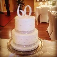 60th anniversary ideas 60th wedding anniversary cake with a bling 60th