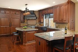 how to stain of cabinets traditional cherry kitchen with rich stain cabinets