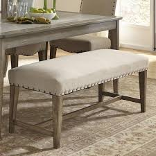 weatherford rustic casual upholstered bench with nail head trim