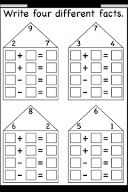 number fact families numbers fact family free printable worksheets worksheetfun