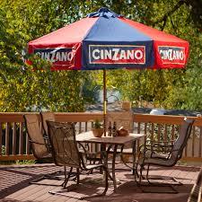 Wood Patio Umbrellas by Destinationgear 9 Ft Wood Cinzano Market Umbrella Hayneedle