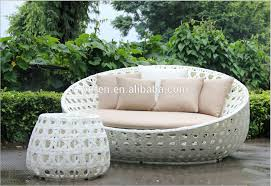 White Rattan Sofa White Rattan Round Lounge Chair Single Sofa With Side Table Buy