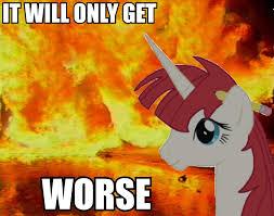 Fire Meme - 217056 alicorn drama creepy doom faust doom paul fire meme