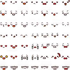 doodle emoticon collection of lovely emoticon emoji doodle stock