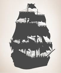 wall decals for baby nursery nursery wall decorations vinyl wall decal sticker pirate ship silhouette os mb141