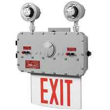 exit emergency light combo xpeh led exit sign with lights hazardous elc