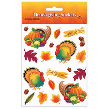 thanksgiving stickers 4 shs pkg childrens