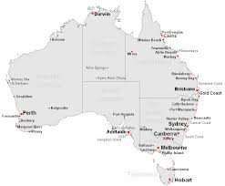 australia map of cities map of australian cities and towns major tourist attractions maps