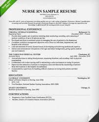 sample resume for registered nurse position download registered