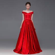 a line off the shoulder red prom gown 2016 red prom dresses red