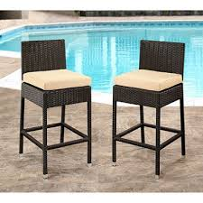 out door bar stools brooklyn wicker outdoor bar stools with cushions set of 2 sam s