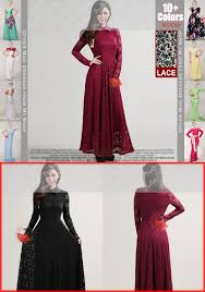 maroon lace maxi dress with shirt collar lace prom dress