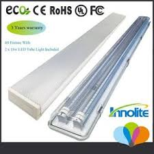 led tube light fixture t8 4ft 36w 6000k 4ft garage troffer shop light fixture with 2 x 18w led t8