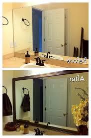 framed bathroom mirrors over vanity frame your mirror diy ideas