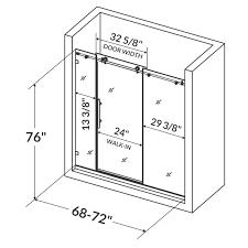 Shower Door Width Lesscare Ultra C 72 X 76 Single Sliding Shower Door Reviews