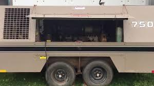 leroi 750 cfm portable diesel air compressor youtube