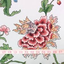 athos brunschwig u0026 fils cotton taffeta chintz floral home decor fabric