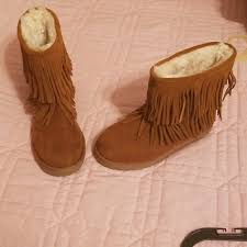 target womens boots size 5 40 target other size 3 brown fringe boots from