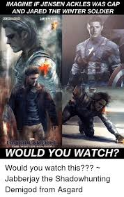 Winter Soldier Meme - imagine if jensenackles was cap and jared the winter soldier