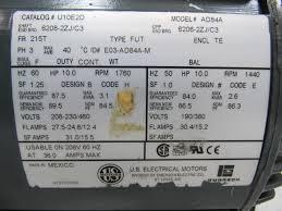 Hp Us by Us Motors U10e2d 10 Hp 3ph 208 230 460v 1760 Rpm Electric Motor Ebay