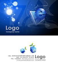 blue network technology business card psd templates