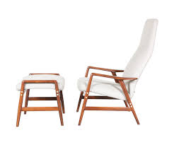 Reclining Lounge Chair Alf Svensson Reclining Lounge Chair W Ottoman For Dux Danish
