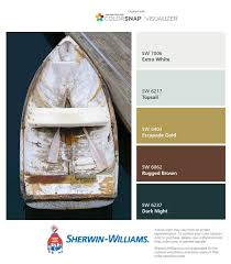 coastal color palettes from the sherwin williams colorsnap app