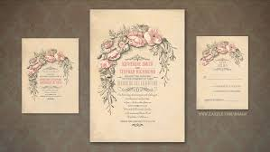 vintage wedding invitation read more pink flowers shabby chic vintage wedding invitation