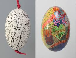 decorated goose eggs decorate an egg make an easter garland the shop chapel