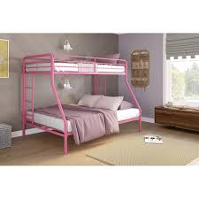 Low Level Bed Frames by Dhp Metal Twin Over Full Bunk Bed In Black Walmart Com