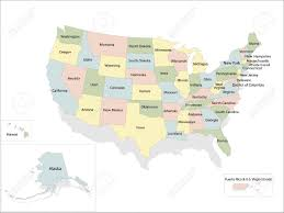 United States Political Map by United States Of America Political Map Royalty Free Cliparts