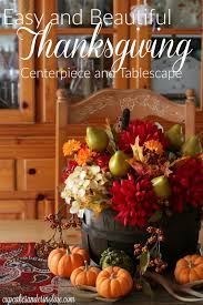 easy thanksgiving tablescape and centerpiece that anyone can do
