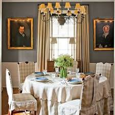hudson valley new york dining room with scenic wallpaper by de