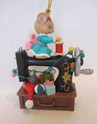 sewing machine figurine sculpture ornament office home desktop