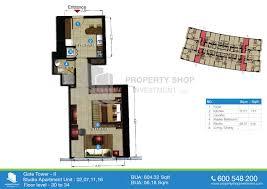 studio apt floor plan the gate tower 2 shams abu dhabi al reem island