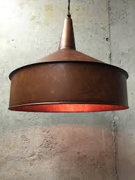 copper farmhouse pendant light steunk lighting pendant light vintage copper finish funnel